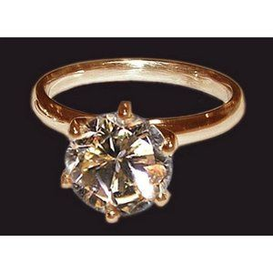 1.51 CT. champagne diamond jewelry ring set pink g
